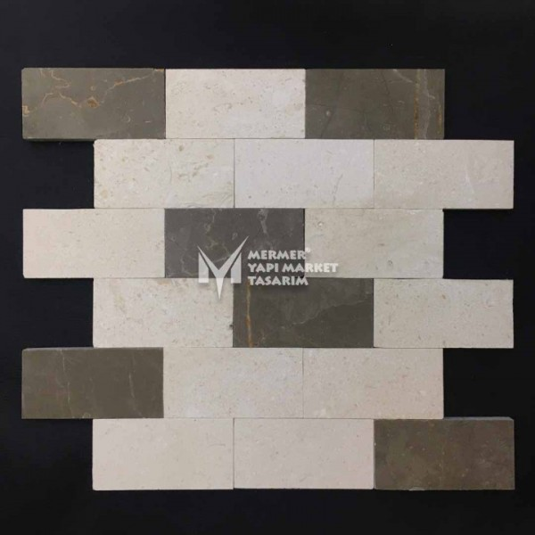 Beige Dual Marble Mosaic - Outlet