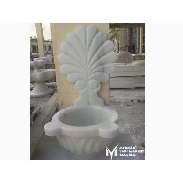 Afyon Cloudy Marble Mirrored Moon Design...