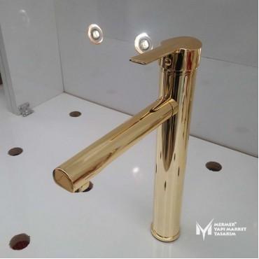 Gold Color Basin Mixer Faucet
