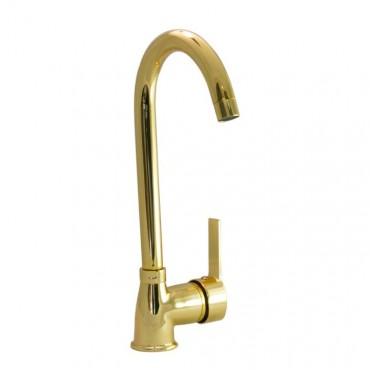 Gold Long Kitchen Faucet