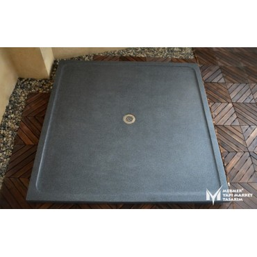 Basalt Anthracite Square Shower Tray