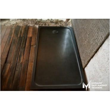 Basalt Black Rectangular Shower Tray