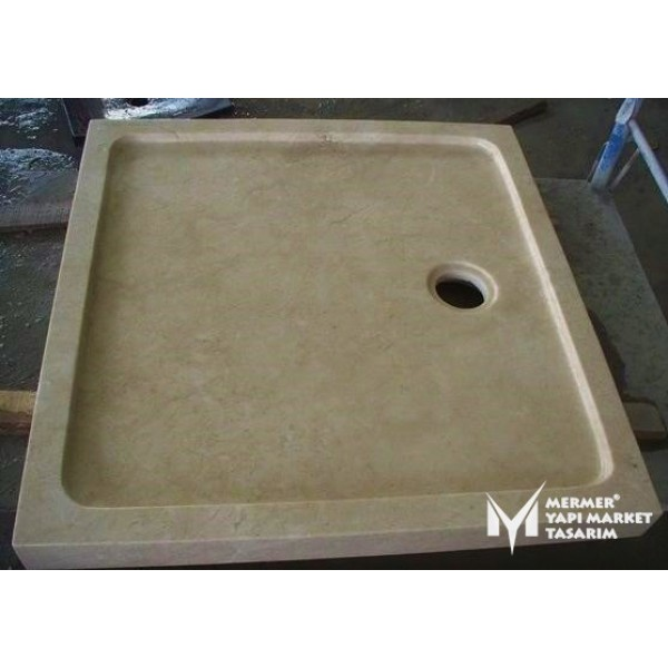Beige Marble Square Shower Tray