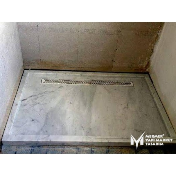 Cloudy Gray Marble Shower Tray