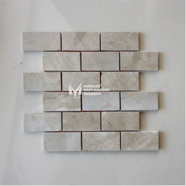 Cappuccino Beige Marble 5x10 Mosaic- Outlet
