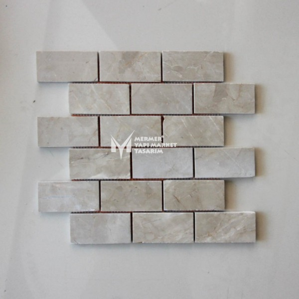 Cappuccino Beige Marble 5x10 Mosaic- Out...