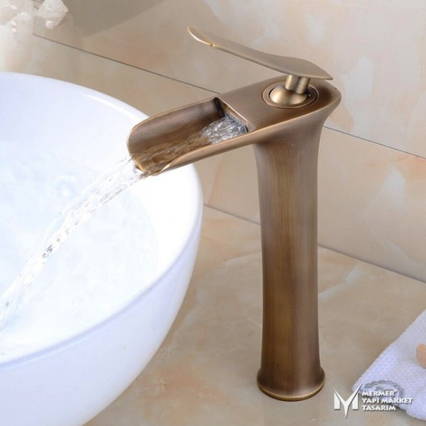 Antique Tall Waterfall Faucet