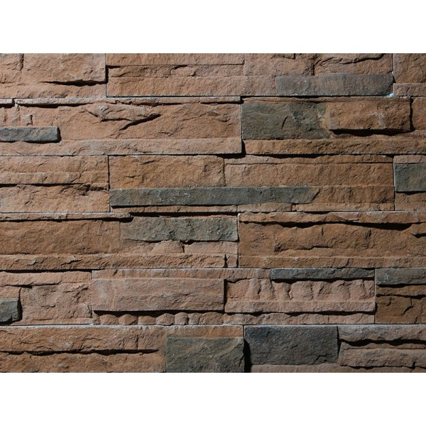 Interlaced Stone Rustic Red
