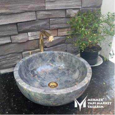 Gray Marble Bowl Washbasin
