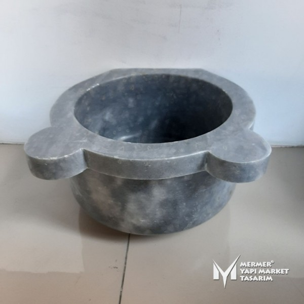 Gray Marble Standard Hammam Sink - Outle...