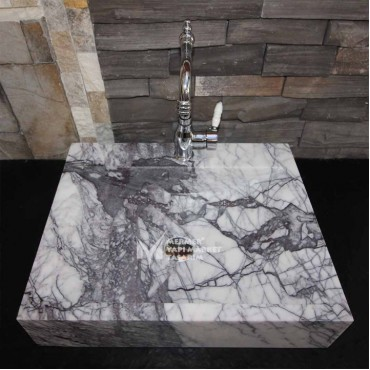 Lilac Marble Sloped Square Sink