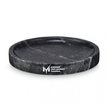 Black Marble Oval Surface Round Shower Tray