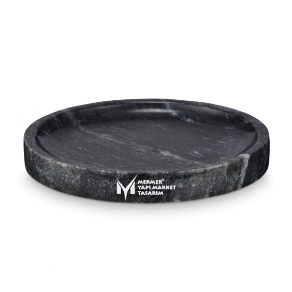 Black Marble Oval Surface Round Shower T...