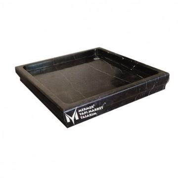 Toros Black High Edge Square Shower Tray