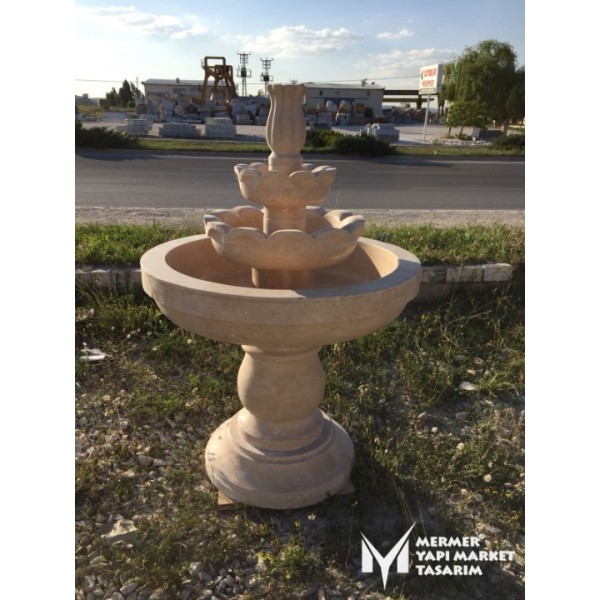 Travertine Large Footed Saloon Fountain