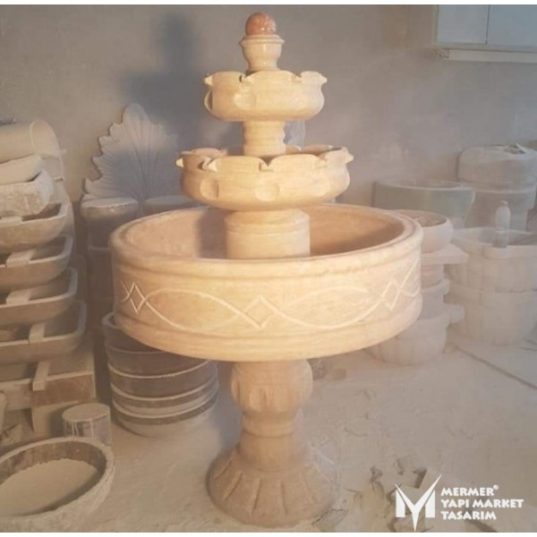 Travertine Embroidered Bowl Saloon Fount...