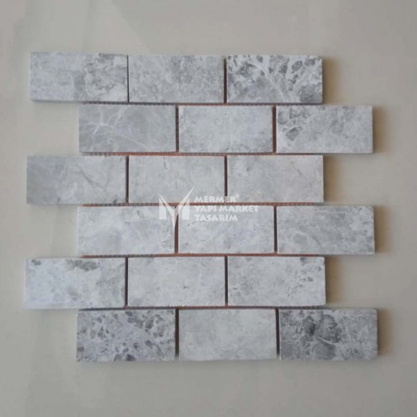 Tundra Grey Marble Mosaic - Outlet