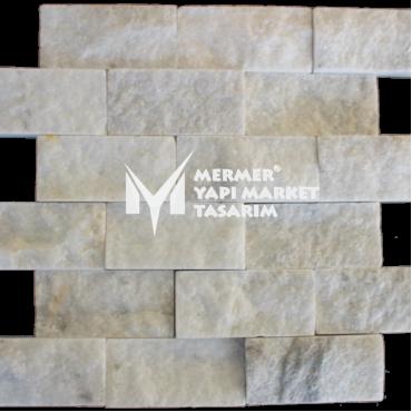 Aegean White Marble Split Face