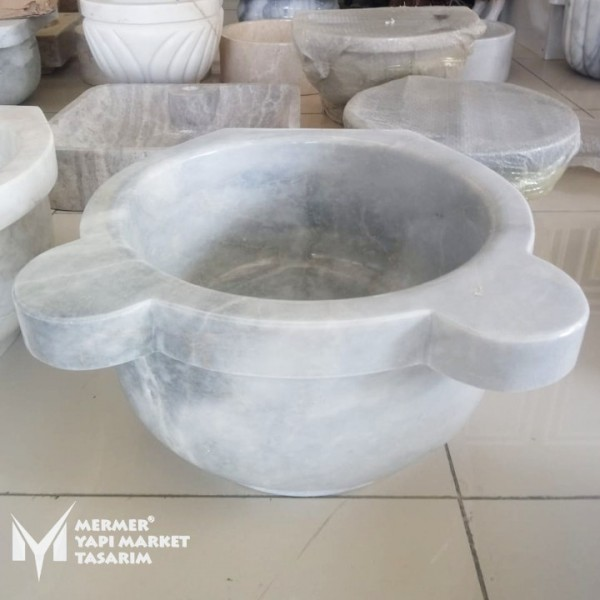 Afyon Cloudy White Marble Standard Hamma...