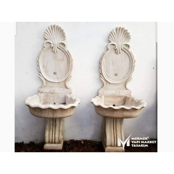 Travertine Light Embroidered Fountain