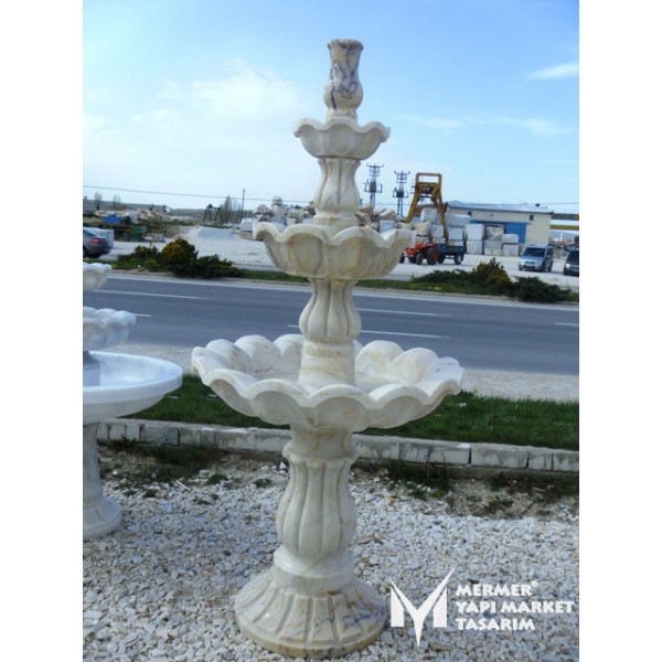 Afyon Marble Cavity Embroidered Pool Spr...