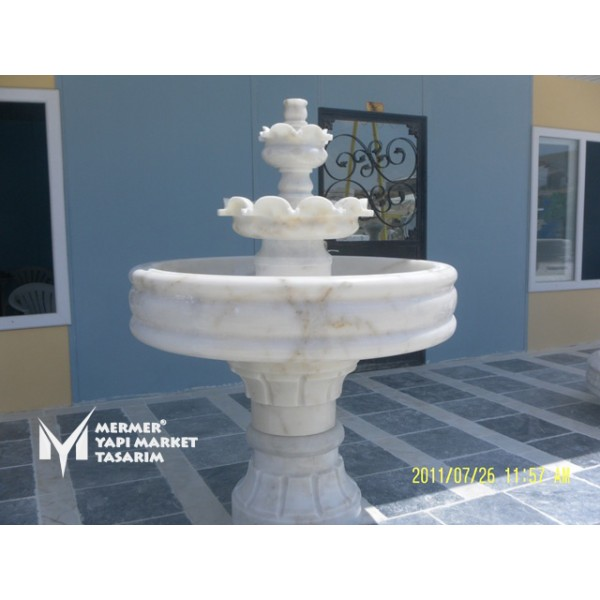 Afyon Yellow White Marble Saloon Sprinkl...